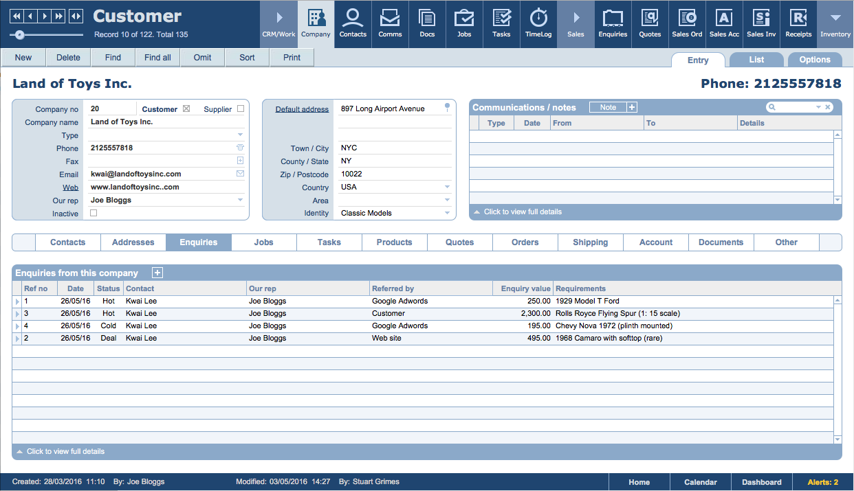 Filemaker Crm Customer Vendors Process Management